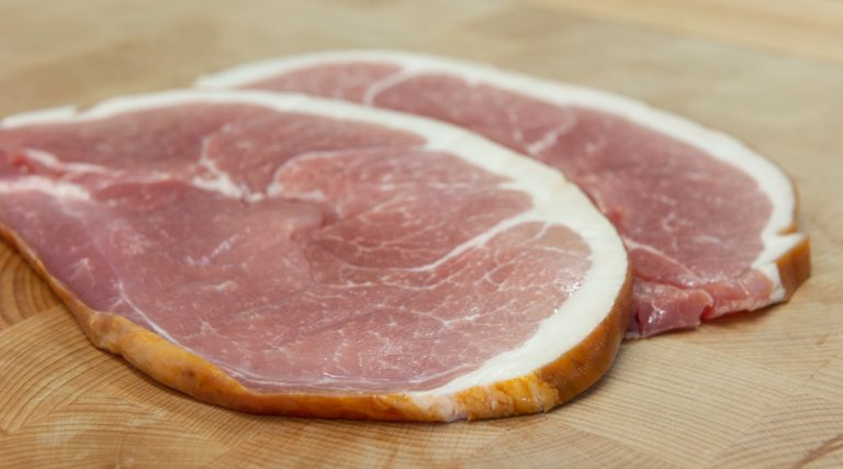 Pair of locally sourced Smoked Gammon Steaks 2