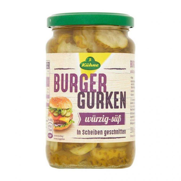 Kuhne gherkin Burger slices