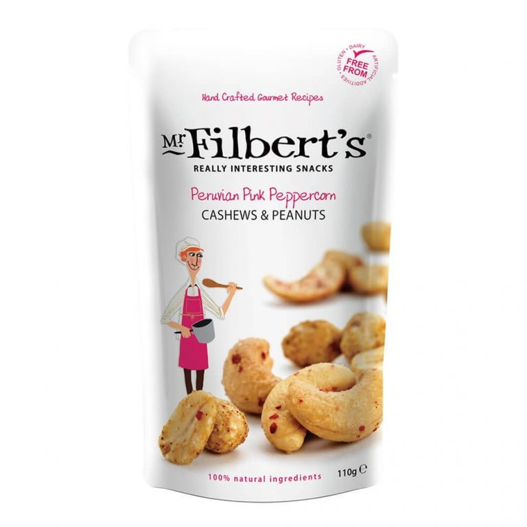 Mr Filbert's Peruvian Pink Peppercorn Cashews & Peanuts