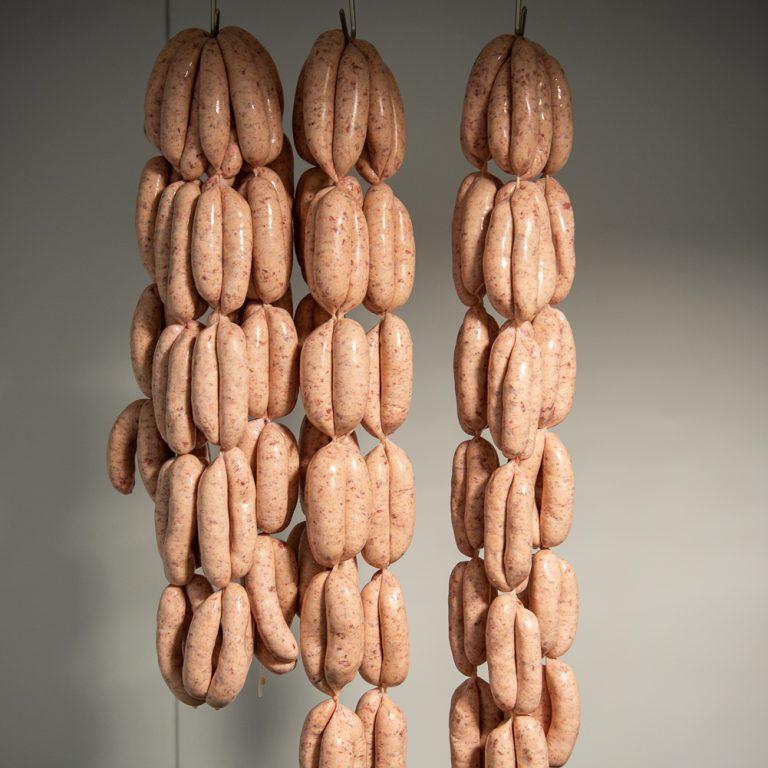 strung sausages