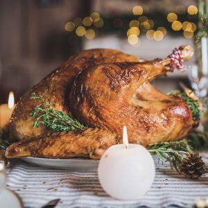 Delicious roasted turkey